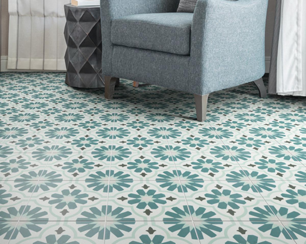 Cordoba Pattern Encaustic Tiles - The Stone Floor Company