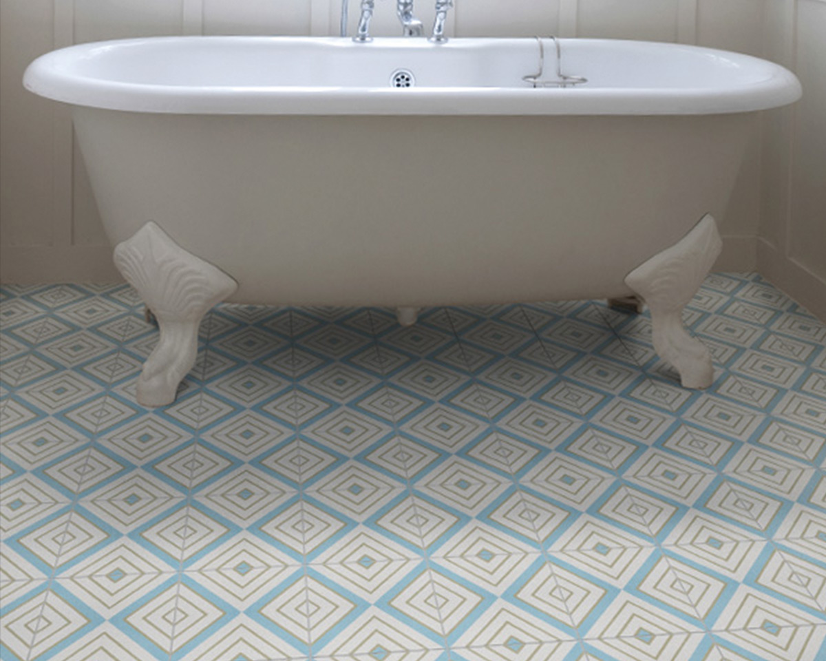 Darcy Pattern Encaustic Tiles The Stone Floor Company